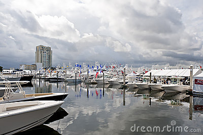 Boat Show Fort Lauderdale 2010 Editorial Photo