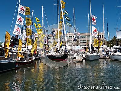 Boat show in Oakland California Editorial Stock Image
