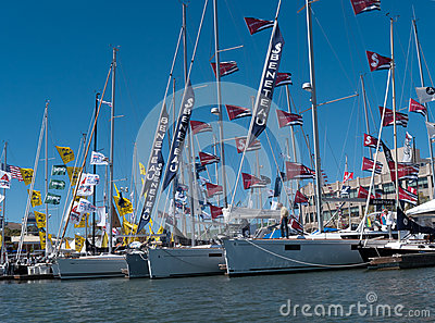 Boat show in Oakland California Editorial Stock Photo
