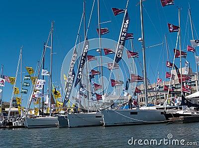 Boat show in Oakland California Editorial Stock Photo