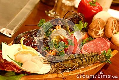Boat Sushi Stock Photo