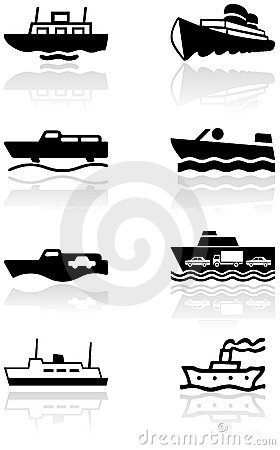 Free Boat Symbol Vector Illustration Set. Stock Image - 16641631