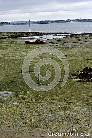 Boat during tide