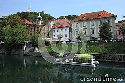 Boat tour on Ljubljanica Editorial Photo