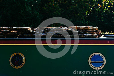 Boat Transporting Wood Free Public Domain Cc0 Image