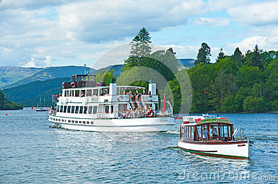 Boat trips on Lake Windermere Editorial Photo