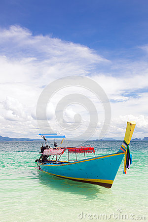 Boat at tropical beach