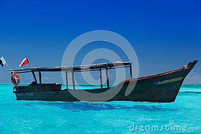 Boat in tropical sea