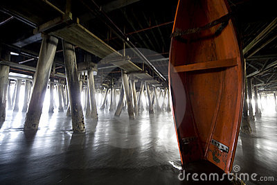 Boat under the Pier