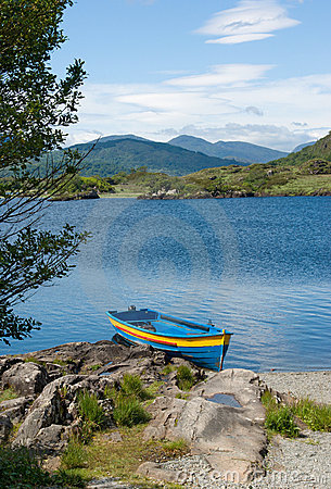 Boat on Upper Lake, Killarney