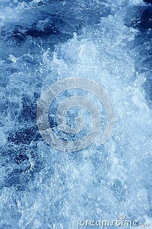 Boat wake foam water propeller blue wash