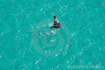Boat on water, Mozambique, southern Africa