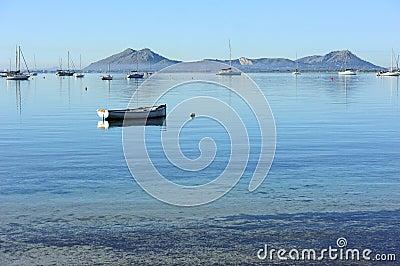 Boat on water near the coast