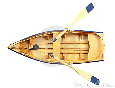 Boat of wood Stock Photo