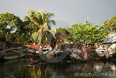 Boat wreck Editorial Stock Photo