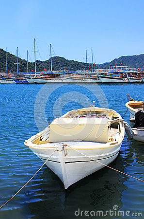 Boat and yachts, near Kekova island