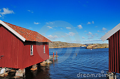 Boathouses Editorial Stock Image
