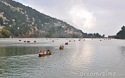 Boating at naini lake Editorial Image
