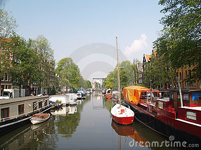 Boats in Amsterdams canal