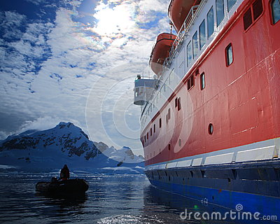 Boats in Antarctica Editorial Photo