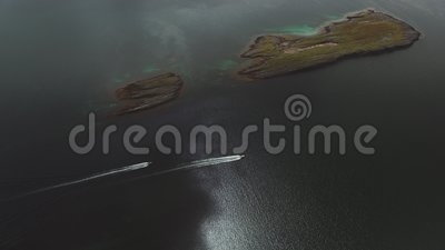 Boats in the ocean. Boats in the arctic ocean stock footage