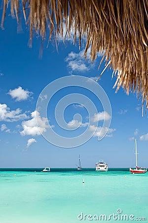 Boats in Aruba harbor