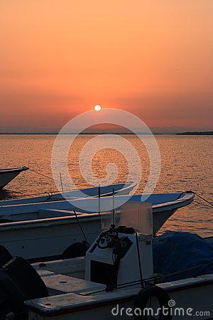 Free Boats At Dawn Royalty Free Stock Photography - 49228847