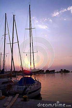 Free Boats At Sunset Royalty Free Stock Image - 466