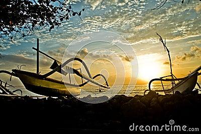 Boats in Bali