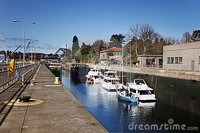Boats in Ballard Locks