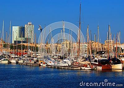 Boats In Barcelona