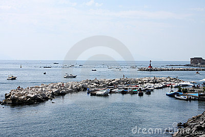Boats in a bay of Naples