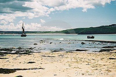 Boats In The Bay At St Ives, Cornwall