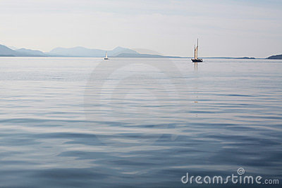 Boats on a calm sea
