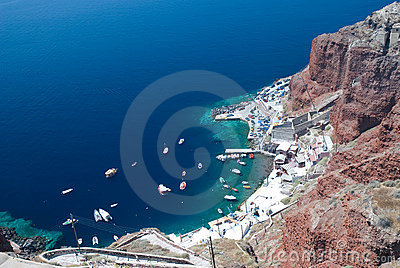 Boats at the dock on Santorini