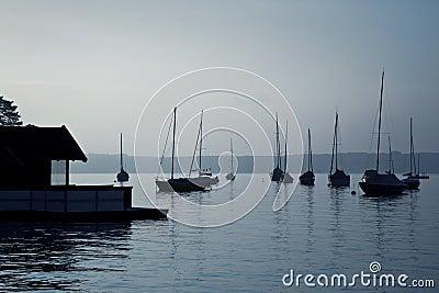 Boats early morning mood