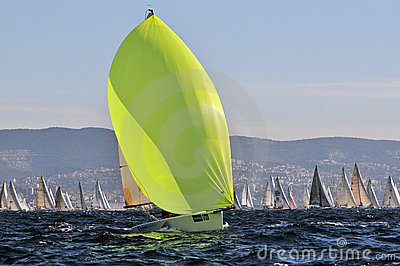 Boats engaged in the race Editorial Stock Image