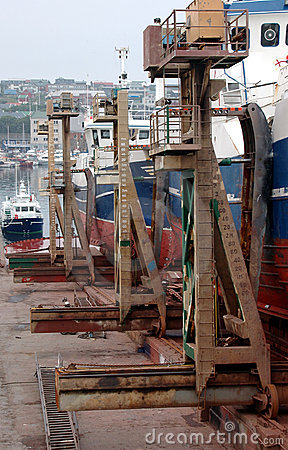 Boats getting repaired