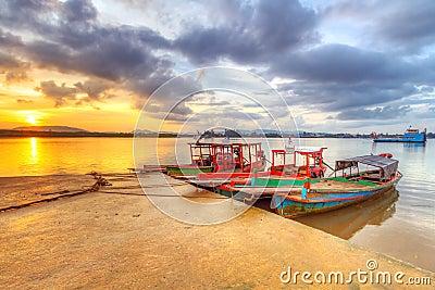 Boats on the harbor of Koh Kho Khao island