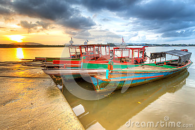 Boats on the harbor of Koh Kho Khao island