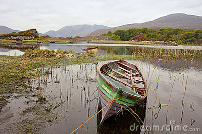 Boats in killarney national park