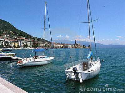 Boats in Lake Garda