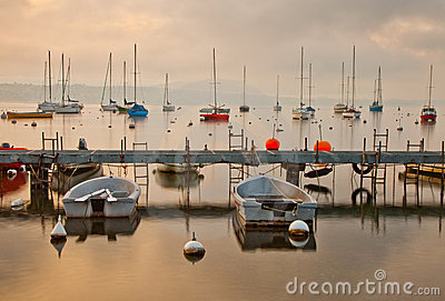 Boats at Lake Geneva