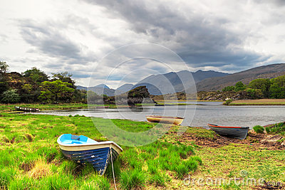 Boats on lake in Killarney