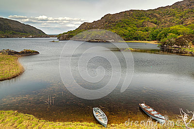 Boats on lake in Killarney National Park