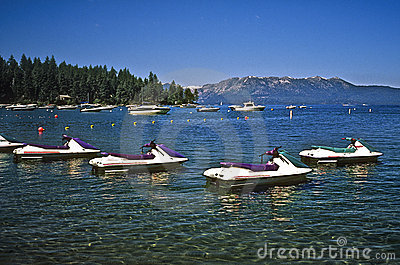 Boats, Lake Tahoe California