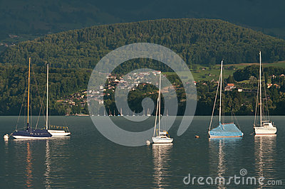 Boats on Lake Thun