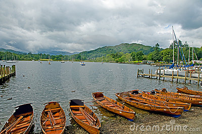 Boats and lake windermere