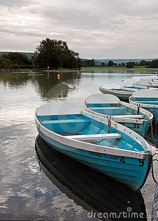 Boats on Llangorse Lake