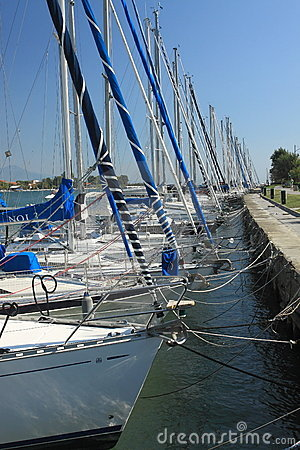 Boats in marina Bocca di Magra